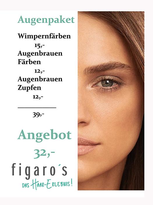 Figaros Friseur Kuppenheim Rastatt Baden-Baden - Angebot Augenpaket
