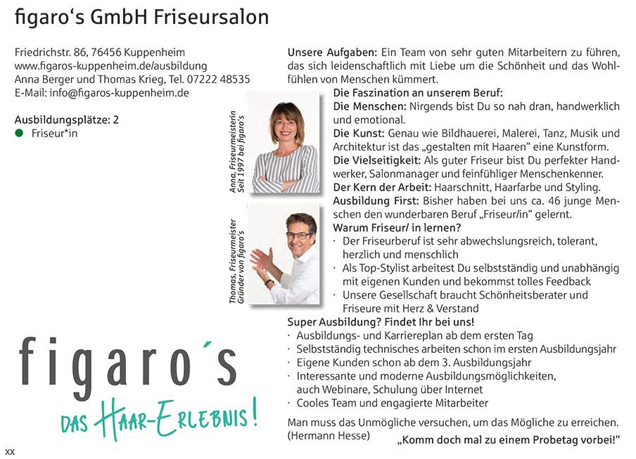 Figaros Friseur Kuppenheim Baden-Baden Rastatt Murgtal - Ausbildungsbroschüre