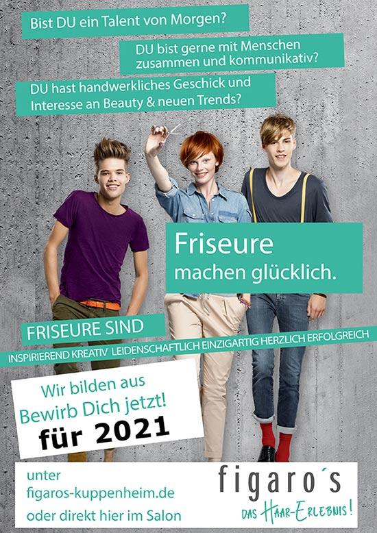 Figaros Friseur Kuppenheim Baden-Baden Rastatt Murgtal - Wir bilden aus - Bewirb Dich Jetzt 2021