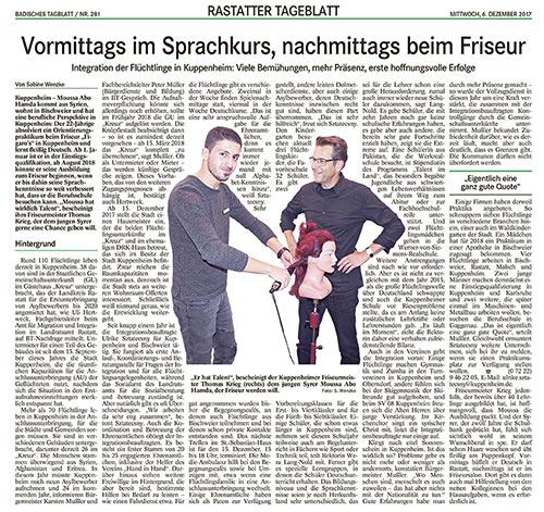 Figaros Friseur Kuppenheim Rastatt Baden-Baden Murgtal - Vormittags im Sprachkurs nachmittags beim Friseur