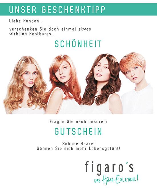 Figaros Friseur Kuppenheim Rastatt Baden-Baden - Geschenktipp Gutschein