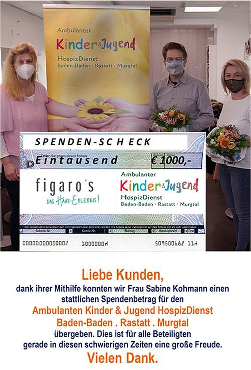 Figaros Friseur Kuppenheim Baden-Baden Rastatt Murgtal - Figaros Hilft - Kinderhospiz&Jugendhospiz