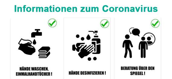 Figaros Friseur Kuppenheim Baden-Baden Rastatt Murgtal - Informationen Corona Virus