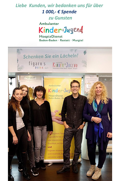 Figaros Friseur Kuppenheim Baden-Baden Rastatt Murgtal - Kinderhospiz&Jugendhospiz