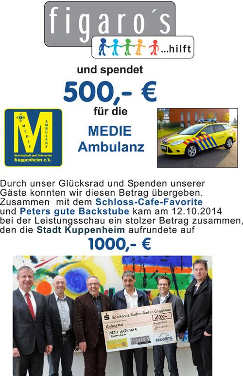 Figaros Friseur Kuppenheim Rastatt Baden-Baden - MEDIE Ambulanz 2014 -1