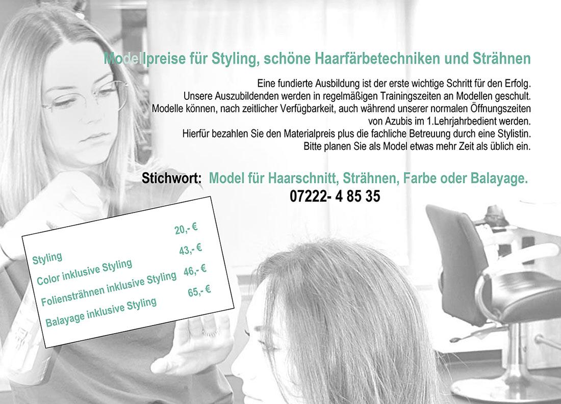 Figaros Friseur Kuppenheim Baden-Baden Rastatt Murgtal - Modell für Haarschnitt, Strähnen, Farbe, Balayage