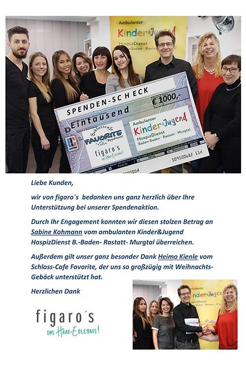Figaros Friseur Kuppenheim Rastatt Baden-Baden - Weihnachtsaktion 2018 -2