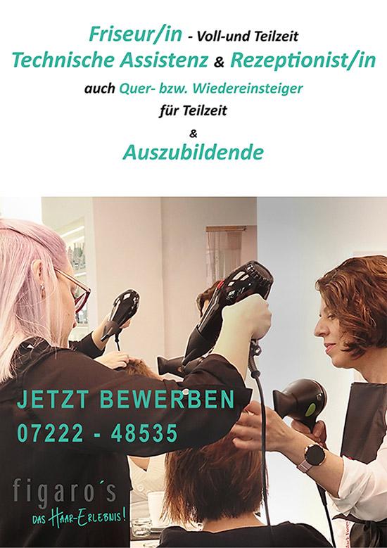 Figaros Friseur Kuppenheim Baden-Baden Rastatt Murgtal - Stellenanzeige